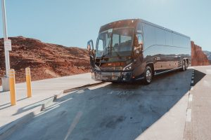 A Grand Canyon bus tour is made comfortable and easy in a luxury bus